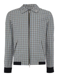 Peter Werth Goodman Check Cotton Blouson Jacket Blue