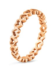 Folli Follie Love And Fortune Rose Gold Ring