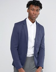 Only And Sons Slim Jersey Blazer Navy