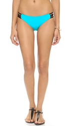 L Space Wild One Colorblock Full Bikini Bottoms Turquoise Mint
