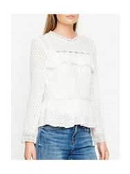Needle And Thread Panelled Lace Top White