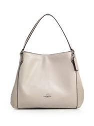 Coach Medium Leather Hobo Taupe