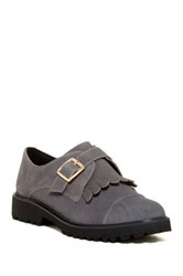 Dune Flipped Cap Toe Fringe Oxford Gray