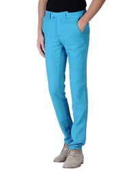 Haikure Trousers Casual Trousers Men Turquoise