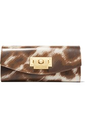 Just Cavalli Printed Pvc Wallet Brown