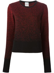 Eggs Gradient Effect Sweater Red