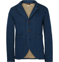 Kapital Blue Loopback Cotton Jersey Blazer Blue