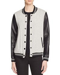 Splendid Varsity Jacket 100 Bloomingdale's Exclusive Heather Grey Black