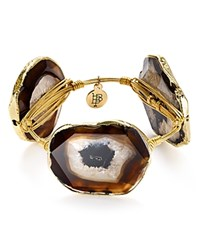Bourbon And Boweties Agate Station Bangle Black Agate
