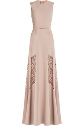 Elie Saab Floor Length Gown With Lace Rose
