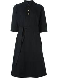 A.P.C. Tie Waist Shirt Dress Black