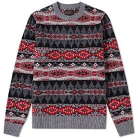 Beams Plus Native Pattern Crew Knit Multi