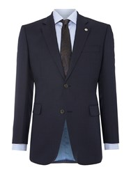 Chester Barrie Men's Birdseye Tailored Fit Single Breasted Jacket Navy