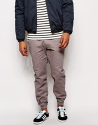 Standard Issue Chinos With Cuffed Ankles Grey
