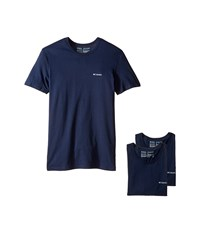 Columbia 100 Cotton Crew T Shirt 3 Pack Dress Blue Men's Underwear Navy