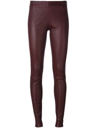 Sylvie Schimmel 'Fun Stretch Plonge' Leggings Red