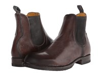 Frye Logan Chelsea Dark Brown Polished Stonewash Men's Pull On Boots