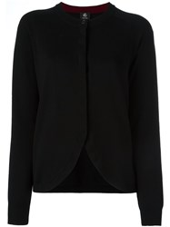 Paul Smith Ps By Curved Hemline Cardigan Black