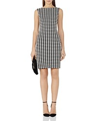 Reiss Lane Houndstooth Check Dress Black White