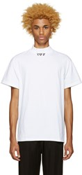 Off White 'Off' Mock Neck T Shirt