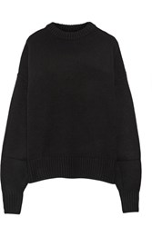 The Row Ophelia Oversized Wool And Cashmere Blend Sweater Black