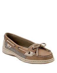 Sperry Anglefish Slip On Leather Boat Shoes Tan