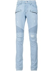 Hudson Slim Fit Distressed Jeans Blue