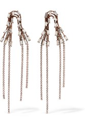 Erickson Beamon Rose Gold Plated Swarovski Crystal Earrings