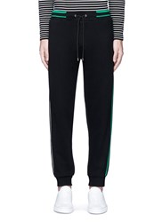 Mcq By Alexander Mcqueen Stripe Logo Print Cotton Sweatpants Black