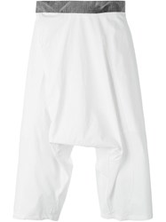 Lost And Found Drop Crotch Shorts White