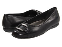 Trotters Sizzle Signature Black Burnished Soft Kid Women's Flat Shoes