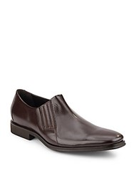 Bruno Magli Wade Leather Slip On Loafers Dark Brown