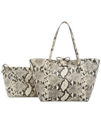 Guess Bobbi Bag In Bag Reversible Tote Python Multi