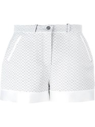 Carven Patterned Shorts White