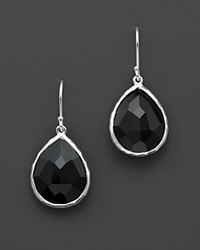 Ippolita Sterling Silver Rock Candy Small Teardrop Earrings In Black Onyx No Color