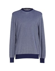 Andrea Fenzi Knitwear Jumpers Men Dark Blue