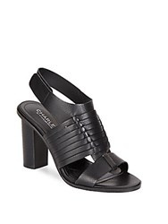 Charles By Charles David Jeeze Leather Sandals Black
