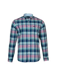 Raging Bull Madras Check Shirt Turquoise
