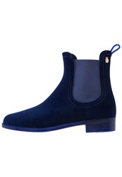 Lemon Jelly Velvety Boots Indigo Blue