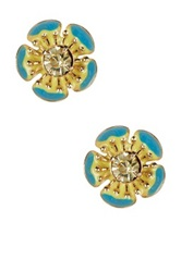 Stella Ruby Turquoise Dipped Flower Earrings