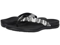 Vionic Tide Sequins Black White Women's Sandals
