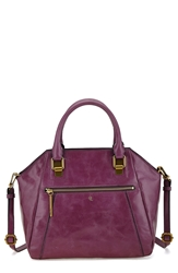 Elliott Lucca 'Faro City' Leather Satchel Orchid Candy