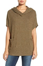 Gibson Women's Short Sleeve Poncho Top Olive