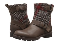 Woolrich Baltimore Sprat Red Plaid Wool Women's Boots Brown