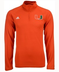 Adidas Men's Miami Hurricanes Primary Screen Ultimate Quarter Zip Pullover Hoodie Orange