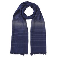 Jacques Vert Two Tone Scarf Dark Blue