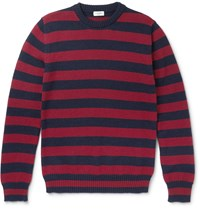 Saint Laurent Striped Wool Sweater Blue