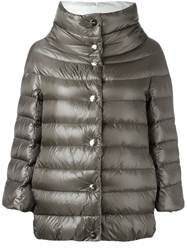 Herno Reversible Padded Jacket Grey