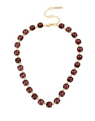 Kenneth Cole Faceted Stone Collar Necklace Burgundy