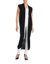 Dkny Long Ribbed Cardigan Black